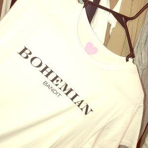 Tops - White bohemian bandit T-shirt size small